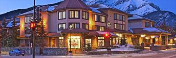 Elk + Avenue Hotel, Exterior at Night
