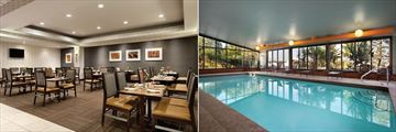 Embassy Suites Portland Maine Hotel, Waypoint Restaurant and Indoor pool