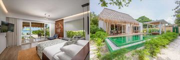 Beach Villa and Beach Villa with Pool at Emerald Maldives
