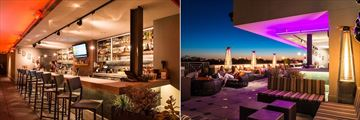 Epicurean Hotel, Edge Bar Interior and Edge Bar Rooftop Terrace