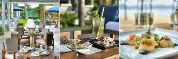 Evason Ana Mandara Nha Trang, Beach House Restaurant Patio, Tapas and Mojito and Seared Scallops