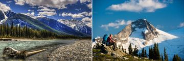 Kootenay River (left), and hiking in Whistler (right)