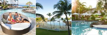 Poolside Cabana, Beach View and Pool at Fairmont Orchid