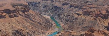 Aerial view of Fish River Canyon