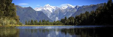 Franz Josef Glacier, a view from Lake Matheson