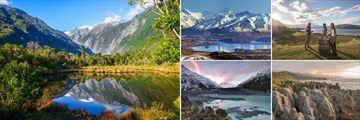 Franz Josef Glacier, Lake Wannaka, Mount Cook & Punakaiki Pancake Rocks