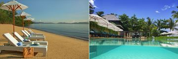 Gaya Island Resort, Beach and Pool