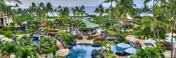 Pool and Resort View of Grand Hyatt Kauai Resort and Spa