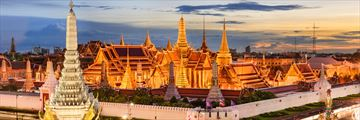 Panoramic view of the Grand Palace, Bangkok