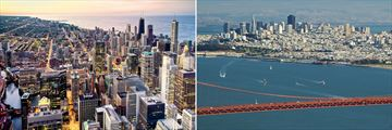 Chicago (left) and San Francisco (right)