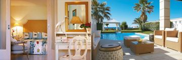 Family Bungalow and Deluxe Bungalow at Grecotel Creta Palace