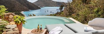 Private pool views at Guana Island