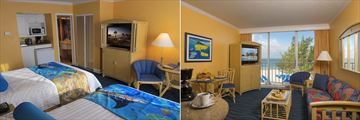 Guy Harvey Outpost, Standard Hotel Room Two Double Beds and Gulf Front Suite Living Area