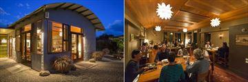 Hapuku Lodge & Tree Houses, Dining Room Exterior and Interior