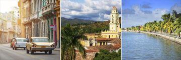 Havana streets, Old Church in Trinidad & Cienfuegos