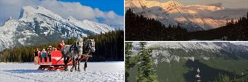 Winter Horse Ride & Mountain Scenery in Banff