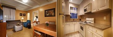 Two Bedroom Suite Living Room and Kitchen at Hospitality House