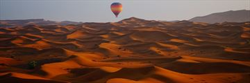 Hot air balloon ride over the Dubai desert