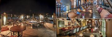 Upper Patio, Vertex Sky Bar and Vertex Bar Seating at Hotel Alex Johnson