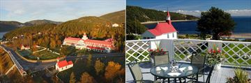 Hotel Tadoussac, Exterior and Views from Balcony