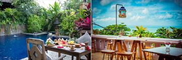 Hotel Tugu Bali, Canggu Beach, Private Dining and Ji Terrace by the Sea Views