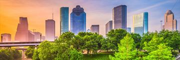 Houston skyline and park, Texas