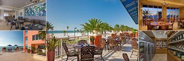 Hyatt Regency Clearwater Beach, SHOR American Seafood Grill Interior, SHOR American Seafood Grill Terrace, SHOR American Seafood Grill Interior, Market and Swim Bar & Grill Terrace