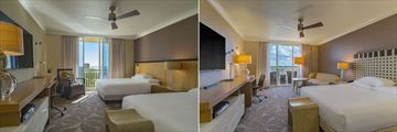 Two Queen Beds with Bay View and King Bedroom with Balcony at Hyatt Regency Coconut Point Resort & Spa