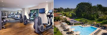Fitness Centre and Pool at Hyatt Regency Monterey Hotel & Spa On Del Monte Golf Course