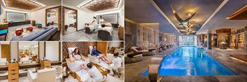 Hyatt Zilara Cancun, (clockwise from top left): Zen Spa Treatment Suite and Couples Treatment, Zen Spa Pool, Zen Spa Pedicure Treatment and Zen Spa Beauty Salon