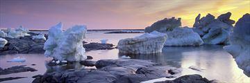 Ice flows in Churchill, Manitoba