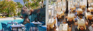 Restaurant La Cascada and Solandra at Hotel Jardines De Nivaria