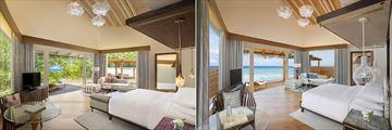 Beach Pool Villa and Overwater Villa at JW Marriott Maldives Resort & Spa