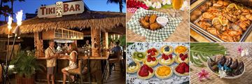 Kaanapali Beach Hotel, (clockwise from left): Tiki Bar Dining and Dining Options
