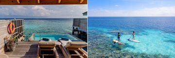 Ocean Pool Villa and paddle boarding at Kagi