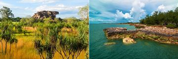 Kakadu National Park (left), and Darwin coastline (right)