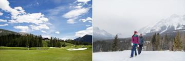 The golf course and walking trails near Kananaskis Mountain Lodge