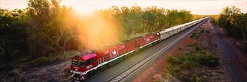 Ghan train going through Katherine