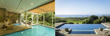 Kauri Cliffs, Indoor Lap Pool and Owner's Lodge Pool