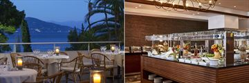 Asterias Restaurant and Horizon Buffet Restaurant at Kontokali Bay