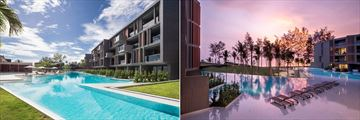 La Vela Khao Lak, Pool during the Day and at Night