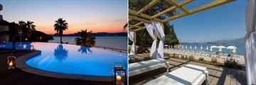 The pool and beach at Lafodia Sea Resort