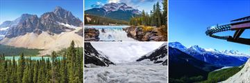Lake Louise, Athabasca Falls, Columbia Icefield & Glacier Skywalk