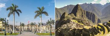 Lovely views of Lima and Machu Picchu