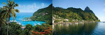 Marigot Bay and Piton Mountains, St Lucia