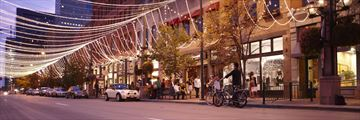 Larimer Square at night, credit: Bryce Boyer