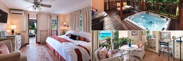 Garden Junior Suite Room, Whirlpool and Ocean Deluxe Living Area at Little Arches Boutique Hotel