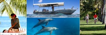 Massage, Boat Excursions, Cycling and Dolphin Safaris at Lomani Island Resort