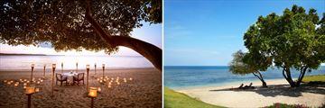 Private Beachside Dinining in lombok, Private Medana Beach