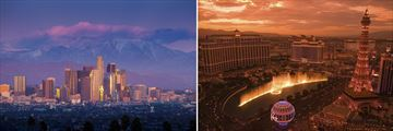 Los Angeles & Las Vegas skylines
